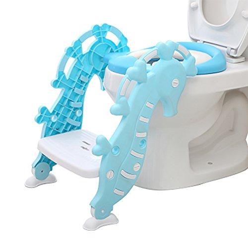 Schritt Stuhl Hocker (Töpfchen Toilettensitz - Kinder-WC-Kissen Hippocampus Leiter WC-Sitz Für Männer Und Frauen Baby Stuhl Hocker Faltbare Baby Kleinkind Leiter Schritt Töpfchen Faltbare WC-Trainingsleiter Platzsparend)