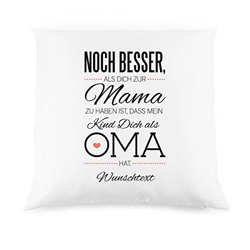Herz & Heim® schönes Kissen als Kompliment für die Beste Oma mit Gratis Druck Ihres Wunschtextes Mein Kind