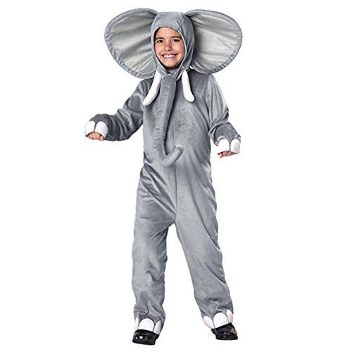 Elefanten Kostüm Kinder - LPATTERN Cosplay Kinder Bühne Leistung Kleidung Spiel Kostüm, Elefant, M(Fabrikgröße: L