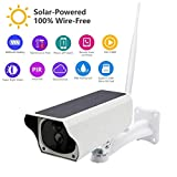 Balscw-J Solar Wireless Monitor 2MP Security Camera Phone Wireless Remote Monitoring Solar Video WiFi Alarm System 128G SD Card Support