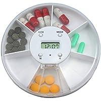 SYSI Smart Elektronische Pillendosen mit 5 Alarm 7 Fächern Medikamente Box,als 24h Uhr /Countdown preisvergleich bei billige-tabletten.eu