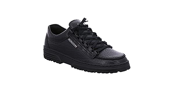 Mephisto Mens Cruiser Black Leather Shoes 41 EU: