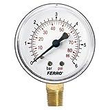 Industrial 63 mm patraña manómetro 6 bares vertical 0,64 cm