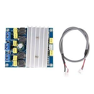 Huairdum Verstärkerplatine, 50 W * 2/100 W TDA7492 Hochleistungs-Digital-Leistungsverstärkerplatine mit Kühler