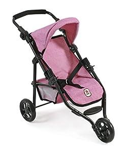 Silla de Paseo Lola de Bayer Chic; Cochecito para muñecas de hasta 50 cm, Modelo 2000 612 70, Color Jeans Pink