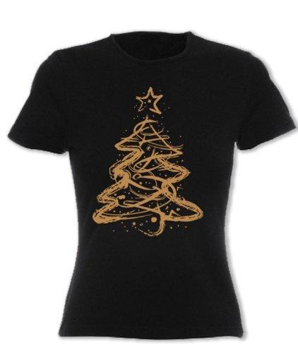 Womens Printed Christmas T Shirt Distressed Christmas