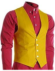 FLATSEVEN Chaleco Premium Slim Fit Hombre