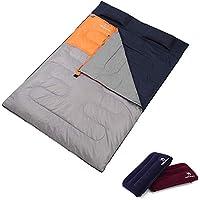 Camel Doble Saco de Dormir Ligera Doble Bolsa de Dormir de Acampada Saco de Compresión Impermeable