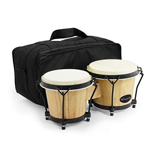 World Rhythm Bongo-Trommeln mit gepolsterter Tasche