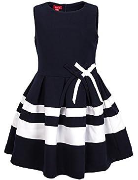 La-V Festliches Kleid gestreift mit Schleifen