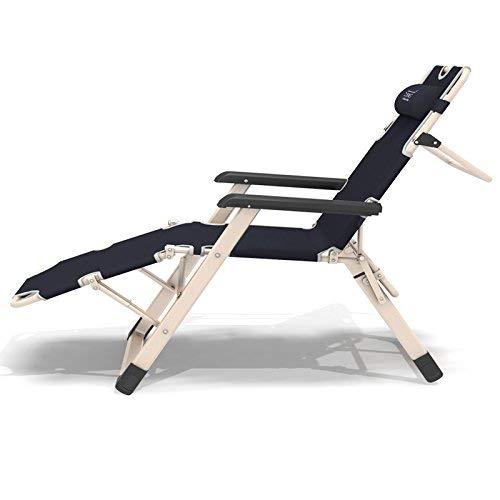 Liegestühle | Schwerkraft Chair Patio Chaiselongue Stühle Außen Hof Pool Recliner Klapp Lounge Tisch Stuhl, 1 Pack (Farbe : 1 Pack) -