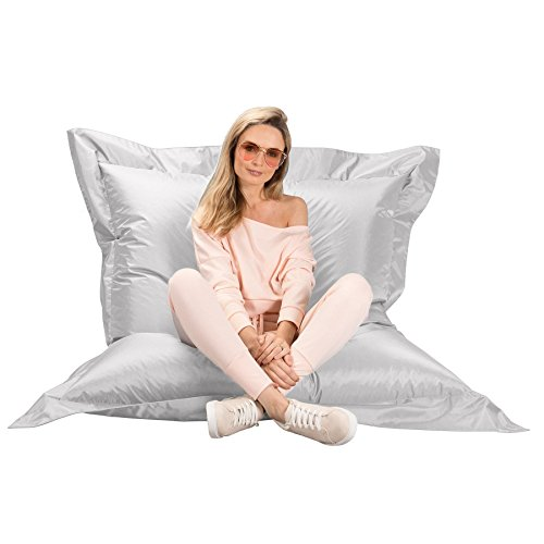 Big Bertha Original, Puff Gigante Cama XL, Puf, Blanco