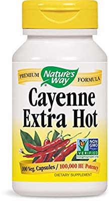 Nature's Way Cayenne Extra Hot, Capsules 100ea