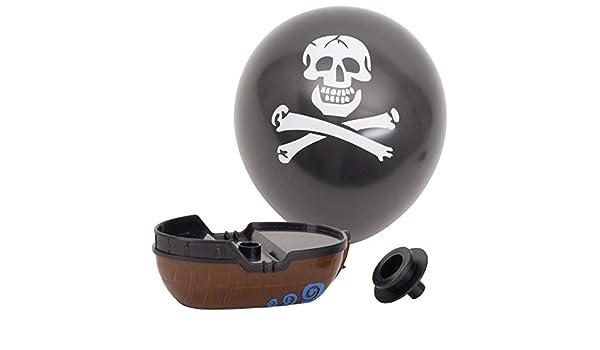 6x Luftballonboot Pirat Boot mit Luftballon Mitgebsel Tombola Kindergeburtstag