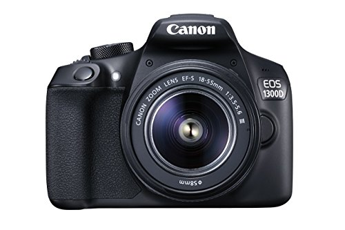 Canon EOS 1300D DSLR Camera with EF-S18-55 DC III F3.5-5.6 Lens – Black