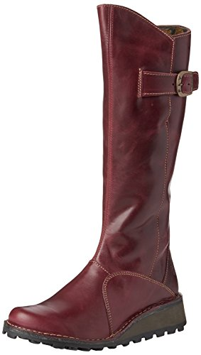 FLY London Mol Leather, Bottes femme Violet - Purple (Purple 058)