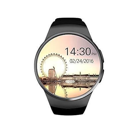 Sport Bluetooth Smartwatch Handy-Uhr mit Freihändige Anrufe/ Herzfrequenz Monitor/ Remote-Kamera/ Touch Screen/ Unterstützungs-TF / SIM-Karte, Fitness Smart Watch For Android