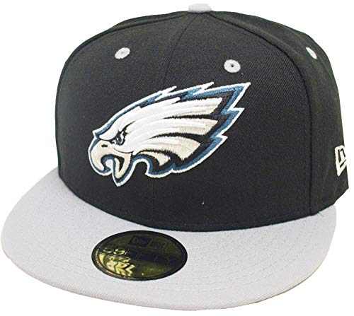 New Era Philadelphia Eagles Black Grey TC 2 Tone Cap Team Back 59fifty Fitted Limited Edition Two Tone Fitted Cap
