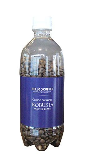 VietBeans Hello5 100% Robusta-Bohnen - Premiumkaffee aus Vietnam - Kaffee Geschenk - Aromatisch traditionell geröstete, ganze Kaffeebohnen in der Flasche - Aroma geschützt - 200g (Kaffeebohnen Wien, Ganze Bohne)