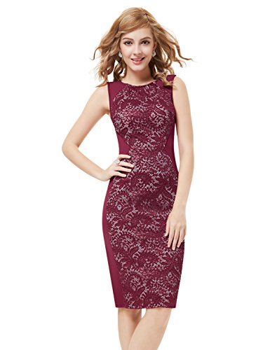 HE05336RD06,6UK,Red,Ever Pretty Short Cocktail Party Dresses 05336