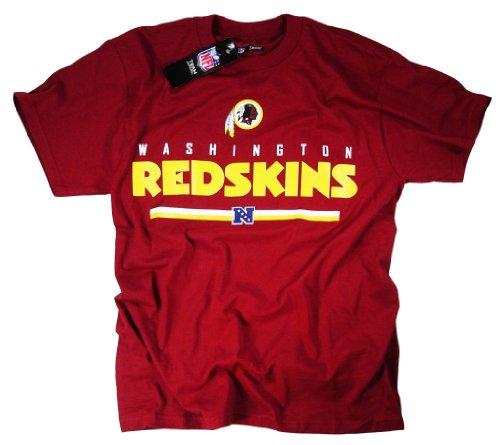 Washington Redskins-Maglietta a maniche corte con Logo della squadra NFL abbigliamento ufficiale della National Football League
