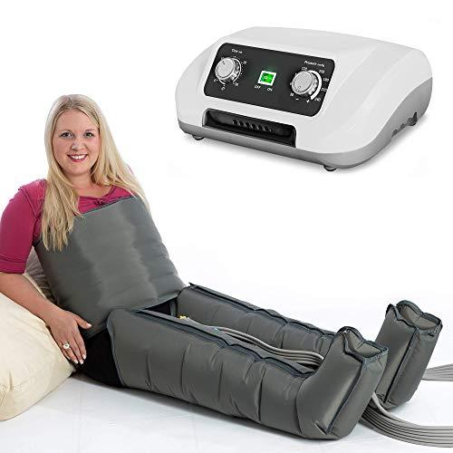 Venen Engel 6 Gleitwellen Massage-Gerät mit Bauch- & Beinmanschetten, 6 Luftkammern, Druck & Zeit unkompliziert einstellbar