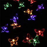 4.8M 20 LED Solar Waterproof Butterfly F...