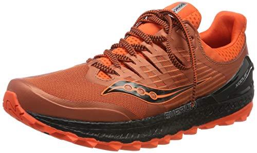 Saucony Xodus ISO 3 - Zapatillas de Running para Hombre, Naranja Orange/Black 36, 43 EU