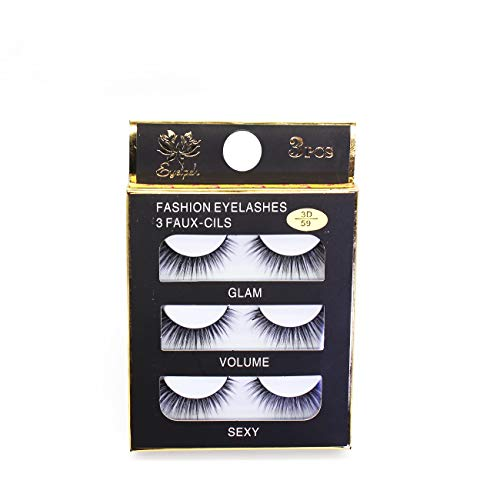 FLAWISH Soft False Eyelash 3D Artificial Eyelashes Makeup Extension, 6 Pieces/Set