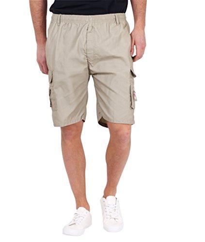 KRISP Mens Cargo Shorts Summer Casual Cotton Plain Shorts Spring