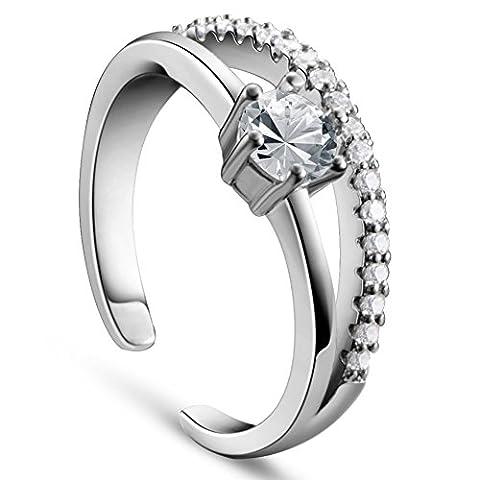 fabelhafte 925 Sterling Silber Manschettenknoepfe Ringe Mikro pflastern aaa Zirkonia,Platin,16mm,7mm