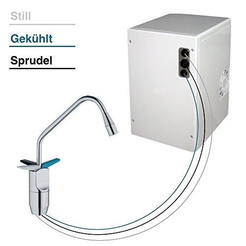 Untertisch-Trinkwassersystem SPRUDELUX ohne Filtereinheit inklusive 3-Wege-Zusatzarmatur. Profi-Wassersprudler für den Privathaushalt. Spritziges Mineralwasser / Sprudelwasser direkt aus der Küchenarmatur.
