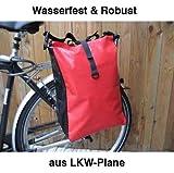 Gravidus Fahrradtasche aus LKW-Plane, wasserdicht (Rot)