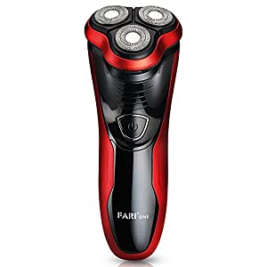 FARI Rotary Electric Shaver with Pop-up Trimmer, Wet & Dry Rechargeable Electric Shaving Razor for Men, Black