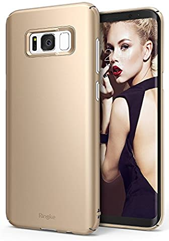Coque Samsung Galaxy S8 Plus, Ringke Slim Ajustement facile, Mince [Découpes sur mesure] Extrêmement légère et mince Revêtement supérieure PC- Étui rigide - Royal Gold