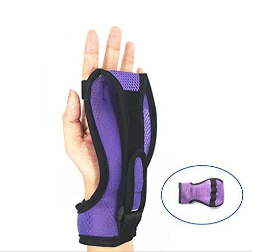 AMhuui Finger-Handgelenk-Orthesen, Rehabilitationstraining, Training mit Unterstützung Schlaganfall-Hemiplegie rutschfeste atmungsaktive Handschuhe für handsteife Paralyse-Arthritis (1 Stück) -