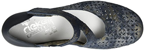 Rieker 41746, Escarpins Femme Bleu (Blau-metallic/pazifik / 90)