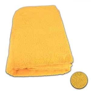 12 Stück Waschhandschuh Set 15x20cm Goldgelb