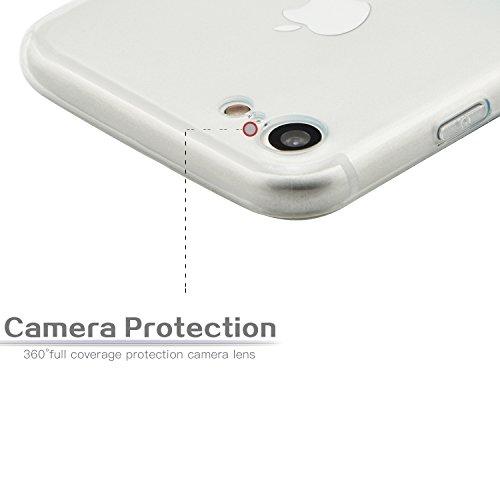 iPhone 6 Hülle, iPhone 6S Silikon Case, Fraelc® [0.8MM Ultradünn] Weiche TPU Bumper Transparent Staubstecker Schutzhülle für Apple iPhone 6 / 6S 4.7 Zoll - Gradient Rot Gradient Cyan