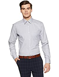 Raymond Men's Plain Slim Fit Formal Shirt