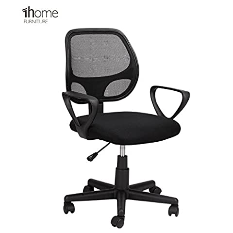 1home Desk Armchair Adjustable Swivel Office Computer