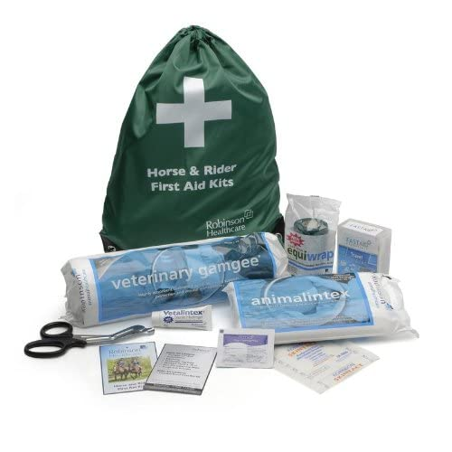 41gC2eqkKKL. SS500  - Signature Unisex's ROB0050 Healthcare Horse And Rider First Aid Kit, Clear, One Size