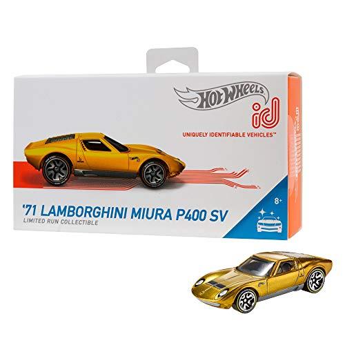 Hot Wheels iD FXB06 - Die-Cast Fahrzeug 1:64 '71 Lamborghini Miura P400 -