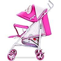 DDOQ Útil Carrito de bebé Cochecito de bebé, Ultraligero Plegable para niños Amortiguador de Carro
