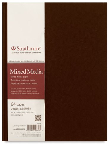 Strathmore 500 Series Mixed Media mit Hardcover Art Journal 64 Blatt (21,6 x 29,2 cm)