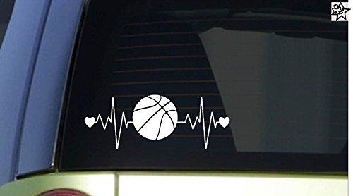 Herzschlag Aufkleber Basketball 20cm Sticker Herz Fan Hobby Leidenschaft Liebe für Auto Autoaufkleber -