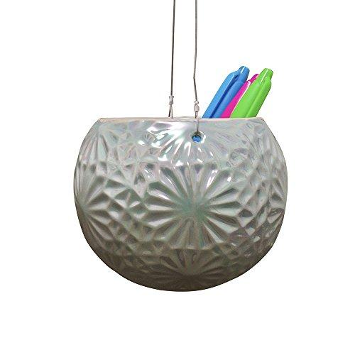 Cache pot décoratif en céramique vert perle à suspendre pour fleurs ou accessoires à afficher ou entreposer