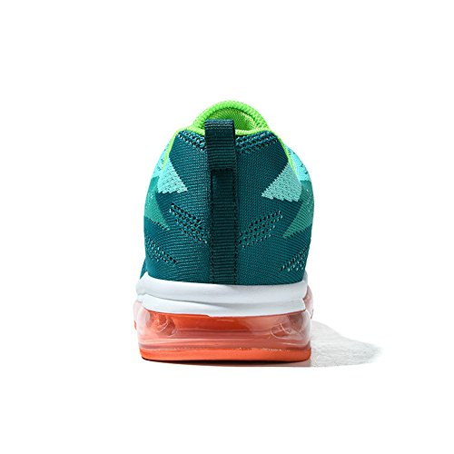 Unisexe Casual Chaussures Indoor Air Athletic Sneakers Fitness Casual Running Chaussures De Tennis Pour Hommes Femmes Vert