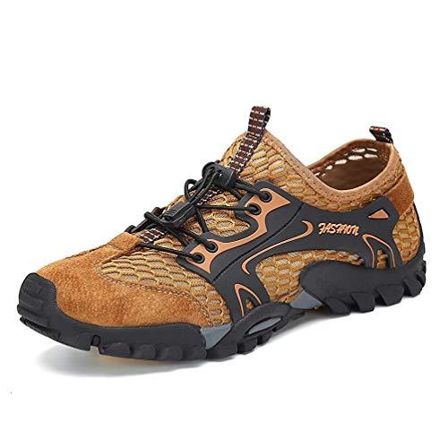 Sandali Sneakers Sportivi Estivi Uomo Trekking Scarpe da Spiaggia All'aperto Pescatore Piscina Acqua Mare Escursionismo Leggero (41 EU, Marrone)