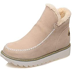 fe98d674ec Botas De Nieve Mujer Invierno Aire Libre Altas Calentar Forrado Botines  Snow Ankle Boots Zapatos De